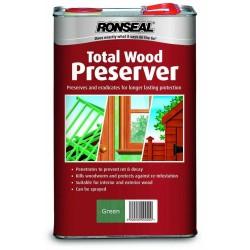 Ronseal Total Wood Preserver - Green - 5L