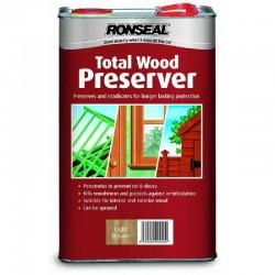 Ronseal Total Wood Preserver - Light Brown - 5L