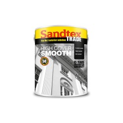 Sandtex Highcover Smooth Masonary Paint - Brilliant White - 10L