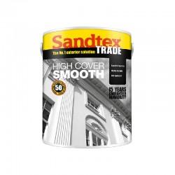 Sandtex Highcover Smooth Masonary Paint - Brilliant White - 10L
