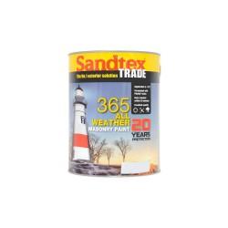 Sandtex 365 All Weather Masonry Paint - Black - 5L