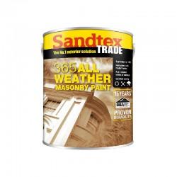 Sandtex 365 All Weather Masonry Paint - Brilliant White - 5L