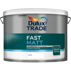 Dulux Trade 10L Fast Matt - White Finish