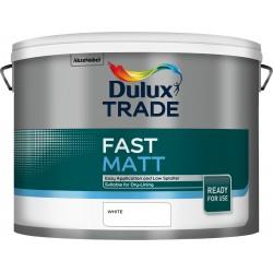 Dulux Trade 10L Fast Matt - White Finish