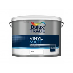 Dulux Trade 10L Vinyl Matt - White Finish