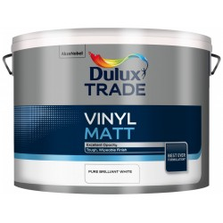 Dulux Trade 10L Vinyl Matt - Pure Brilliant White Finish