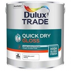 Dulux Trade 1L Quick Dry Gloss - Pure Brilliant White Finish