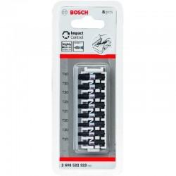 Bosch 8 Piece Impact Control Screwdriver Bit Set - T15 - T40 - 25mm