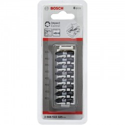 Bosch 8 Piece Impact Control Scrtewdriver Bit Set - PZ2 - 25mm