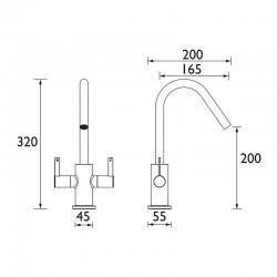Bristan Cashew Easyfit Sink Mixer Tap For Kitchens & Sinks