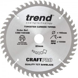 Trend Craft Saw Blade - 165mm x 48T x 20mm