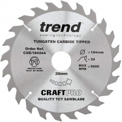 Trend Craft Saw Blade - 184mm x 24T x 30mm