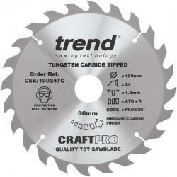 Trend Craft Saw Blade - 190mm x 24T x 30mm x 1.55