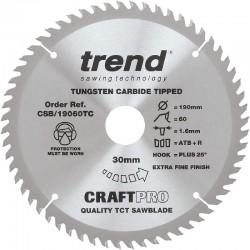 Trend Craft Saw Blade - 190mm x 60T x 30mm x 1.55