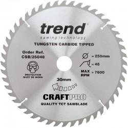 Trend Craft Saw Blade - 250mm x 48T x 20mm