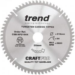 Trend Craft Saw Blade - 216mm x 64T x 30mm