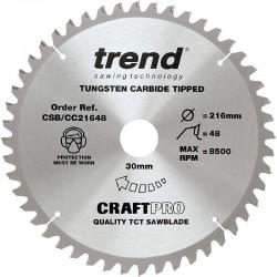 Trend Craft Saw Blade CC - 216mm x 48T x 30mm