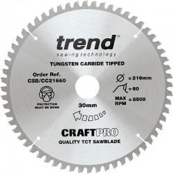 Trend Craft Saw Blade CC - 216mm x 60T x 30mm