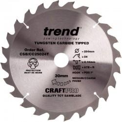 Trend Thin Craft Saw Blade CC - 250mm x 24T x 30mm