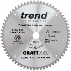 Trend Craft Saw Blade CC - 305mm x 64T x 30mm